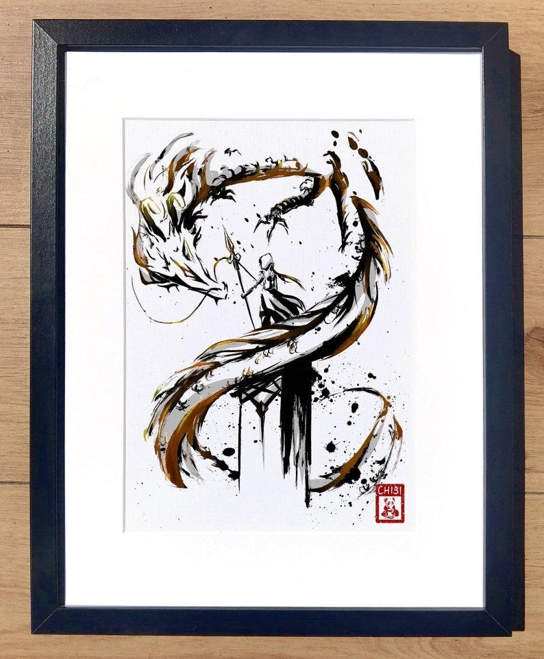 Fanart Print  Zhongli Rex Lapis Genshin Impact Print image 0