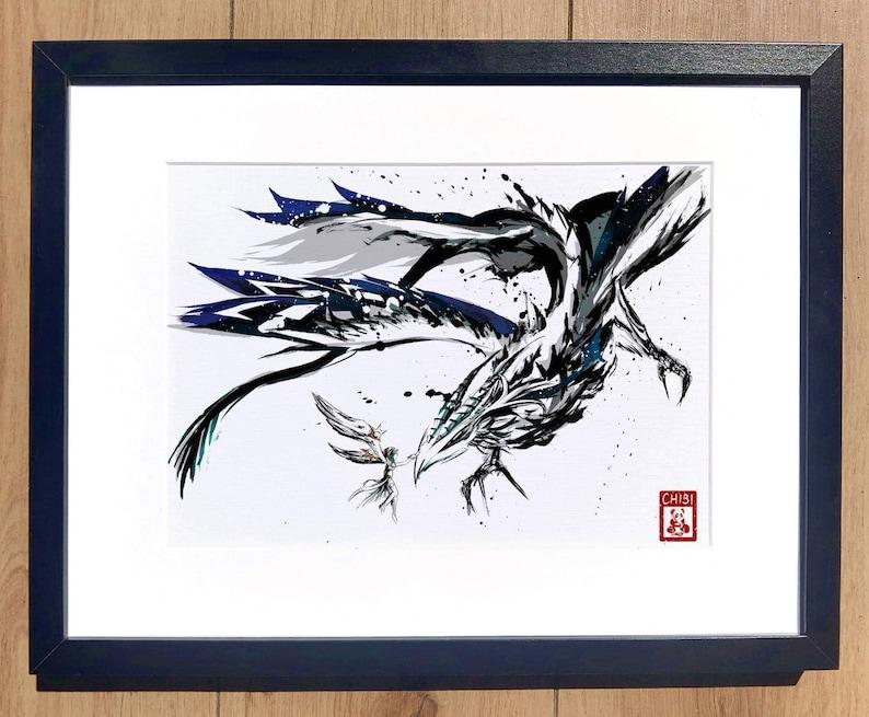 Fanart Print  Venti Dvalin Stormbringer Genshin Impact Print image 0