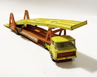 Vintage Matchbox Superkings   K-11   Daf Car Transporter Playworn
