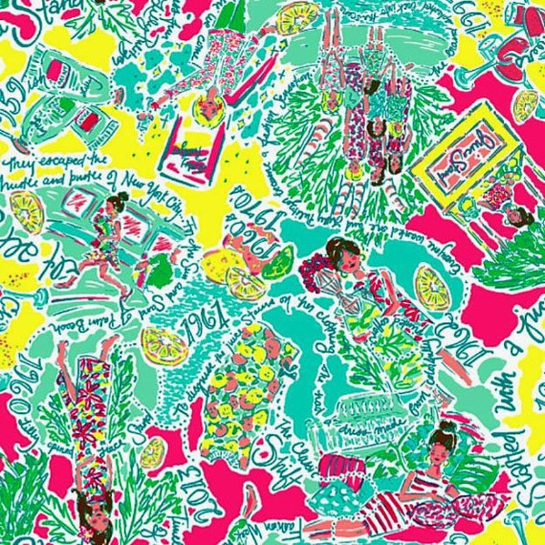 07416aaf62a3a8 18x18 IN THE BEGINNING Lilly Pulitzer Cotton | Etsy