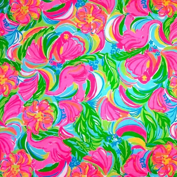 e589ca8fcb9069 SO A PEELING Lilly Pulitzer Cotton Poplin Fabric | Etsy