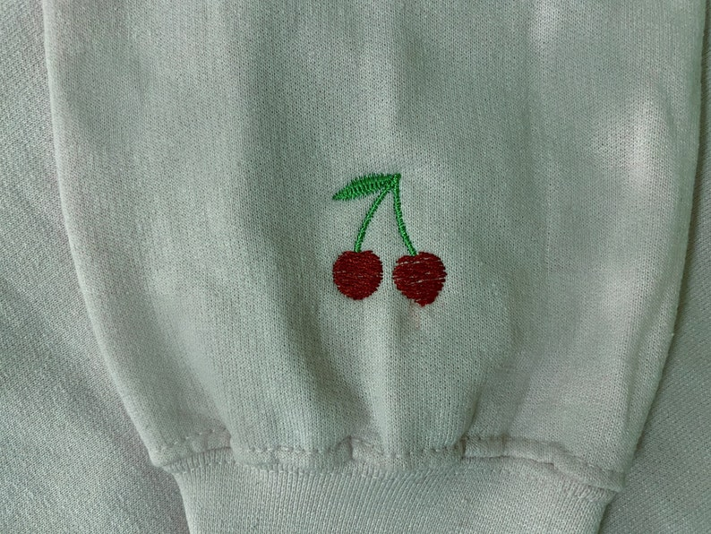 Don/'t You Call Him Baby Cherry Embroidered Crewneck Sweatshirt