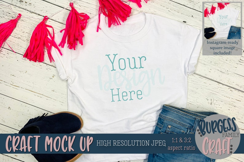 High Resolution JPEG Birthday girl shirt Craft mock up