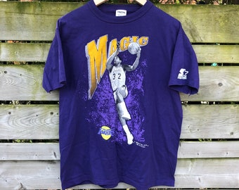 2aa3bbf81 1989 Magic Johnson Starter Vintage T-shirt