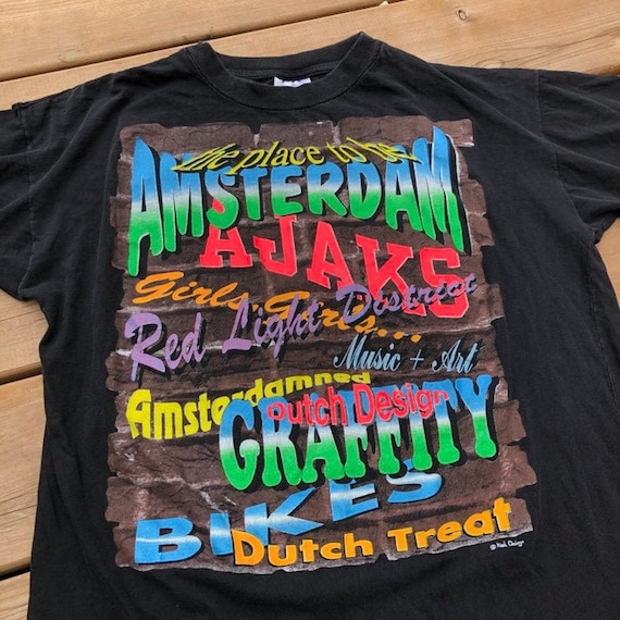 Vintage Amsterdam Tourist T-shirt