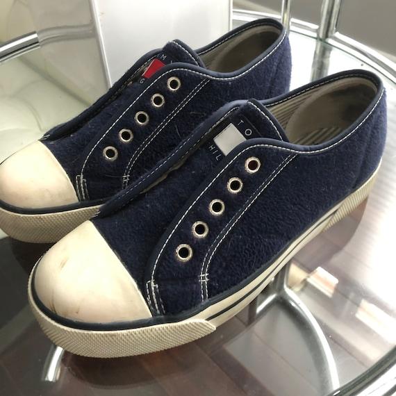 Vintage Tommy Hilfiger Fleece Sneakers Size 7.5-8