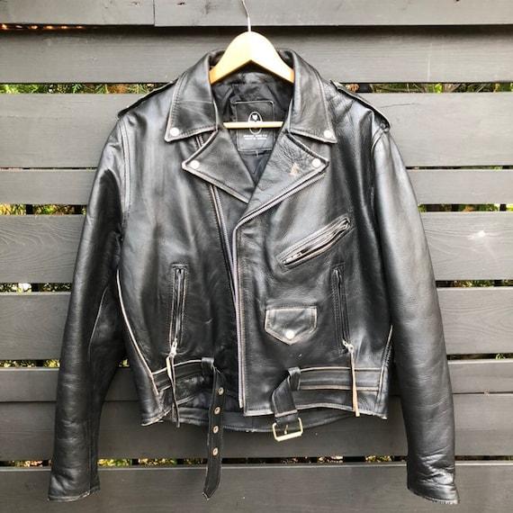 Vintage Wolff Leather Motorcycle Jacket