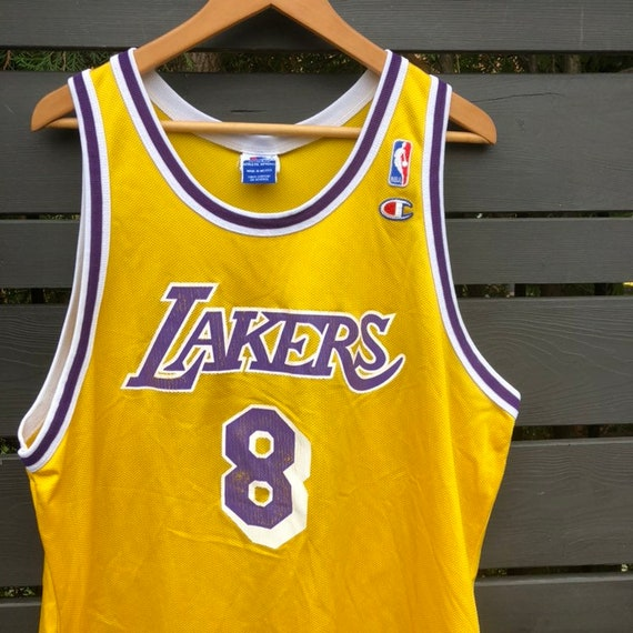 Vintage LA Lakers Kobe Bryant Champion Basketball