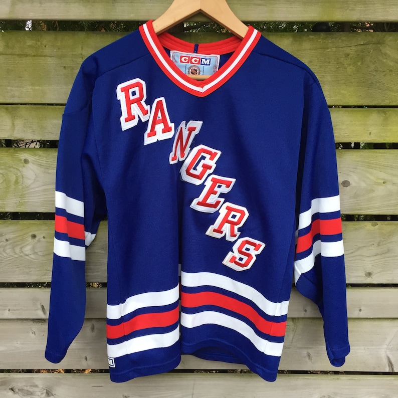 buy online 52ad5 fa101 Vintage CCM New York Rangers Hockey Jersey