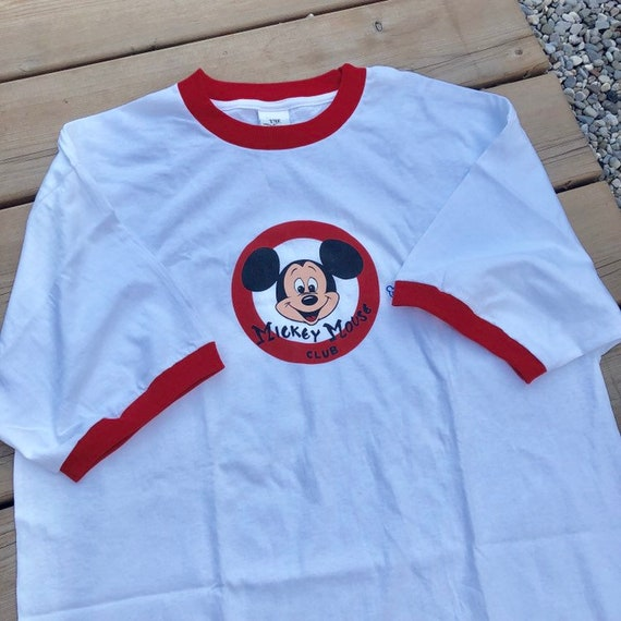 Vintage Mickey Mouse Disney Store Ringer T-shirt