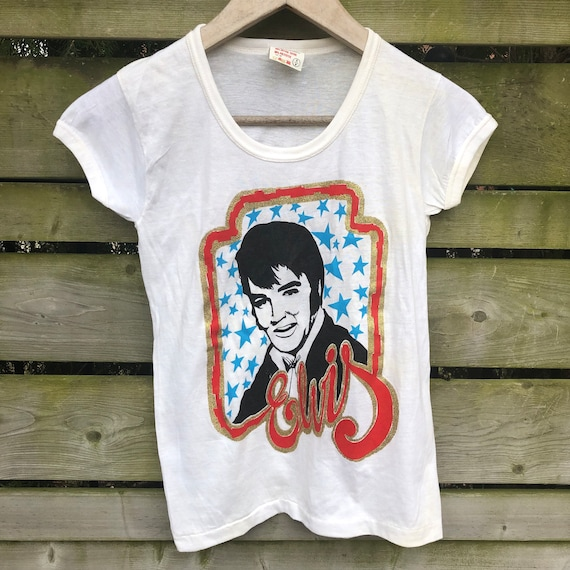 RARE Vintage 70s Elvis Ringer T-shirt