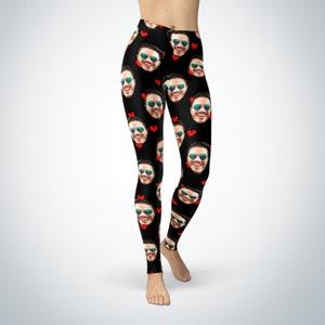 Selfie Gift Leggings Gift for her Funny Leggings Custom Face Customized Custom Leggings Face Leggings Personalized Selfie