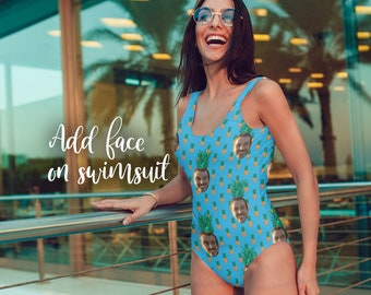 477a5525b7c57 Custom Face Swimsuit Pineapple Swimsuit Funny Swimsuit Custom One Piece  Swimsuit Best Friend Gift Swimsuit Custom Bathing Suit for Her