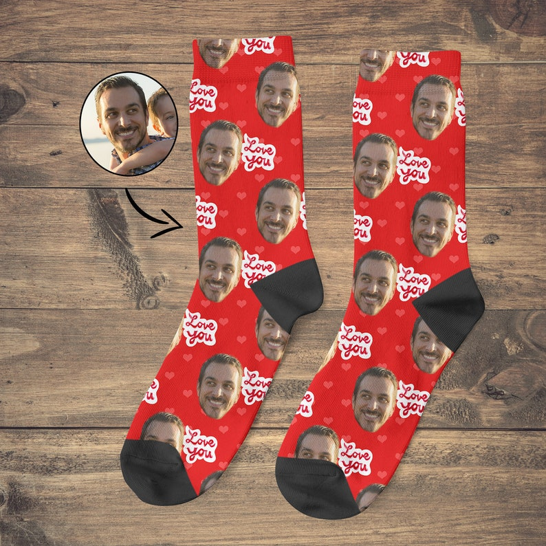 Bestie Surprise Gift, Birthday Gift For Him , Husband Birthday Gift, Custom  Face Socks, Custom Socks, Gifts For Boyfriend, I Love You