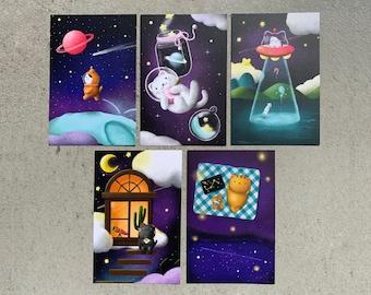 Merkittens Postcard Set of 9