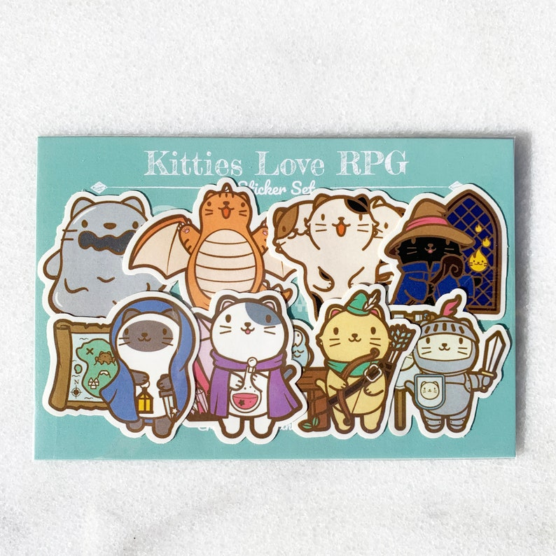 Kitties Love RPG Sticker Pack