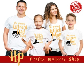 f1003214e Disney Vacation Shirts, Harry Potter, Disney, Matching Disney Shirts,  Matching Family Shirts, Wizard, Witch, mom, dad, Universal Studios