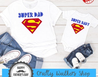 cfdc1499 Fathers Day Gift, Super Dad, Superman, Fathers Day Shirt, Father Son  Matching Shirts, Superman Shirt, Matching Dad, gift for dad, dad gift
