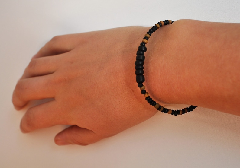 recycled wooden bracelet