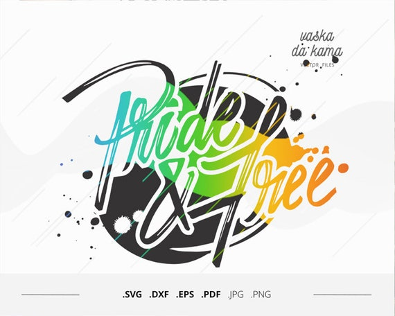 Pride And Free Svg Files For Transfer Iron On Rainbow Letters Etsy