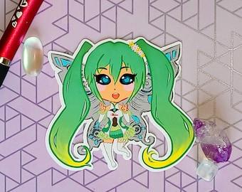 Racer Hatsune Miku Chibi Sticker