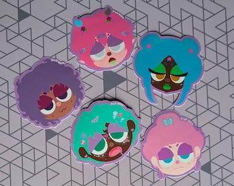 Pastel People Aesthetic Stickers