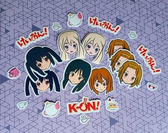 K-on! Stickers: Mio, Azusa, Yui, Ritsu, and Mugi