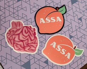 Peach [ASSA] / Heart Brain Stickers