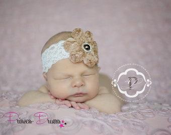 e29e86683d2e2b Neugeborene Foto Requisiten-Fotografie Handmade Spitze Lace Haarband Baby-Mädchen  Princess-Dreams RTS Taufe Hochzeit Props Stirnband prop