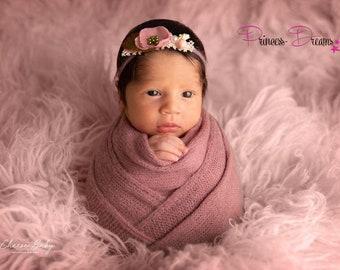 90a5816b9e79f3 Neugeborenen Baby Haarband Baby Mädchen Perlen Fotografie Prop  Babyfotografie Stirnband Newborn Shooting Taufe Haarschmuck Babyshooting