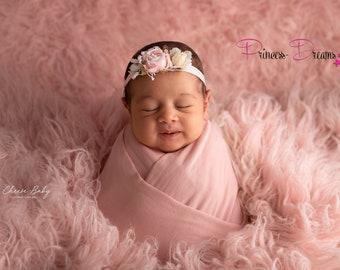 ec32a140daf00 Neugeborenen Baby Haarband Taufe Baby Fotografie Haarband Babyshooting  Neugeborenen Requisiten Babyaccessoires Mädchen Haarband Fotoshooting