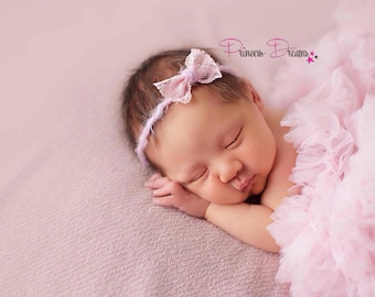92d37840439629 Princess-Dreams Haarband Baby Mädchen Fotografie Shooting Props Wolle  Schleife Spitze RTS Stirnband Taufe Hochzeit Babyshooting Shooting