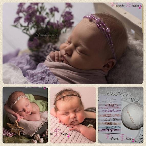 Baby Newborn Girl Newborn Hairband Strinband Baptism Ribbon Ribbon Prop Photography Wedding Baby Girl Newborn Photo Set