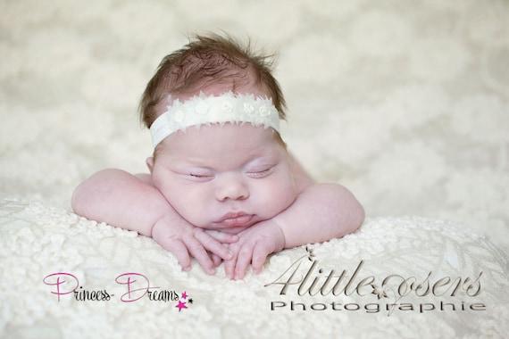 Princess-Dreams Baby Mädchen Reborn Haarband Stirnband weiß Blume Hochzeit//Taufe