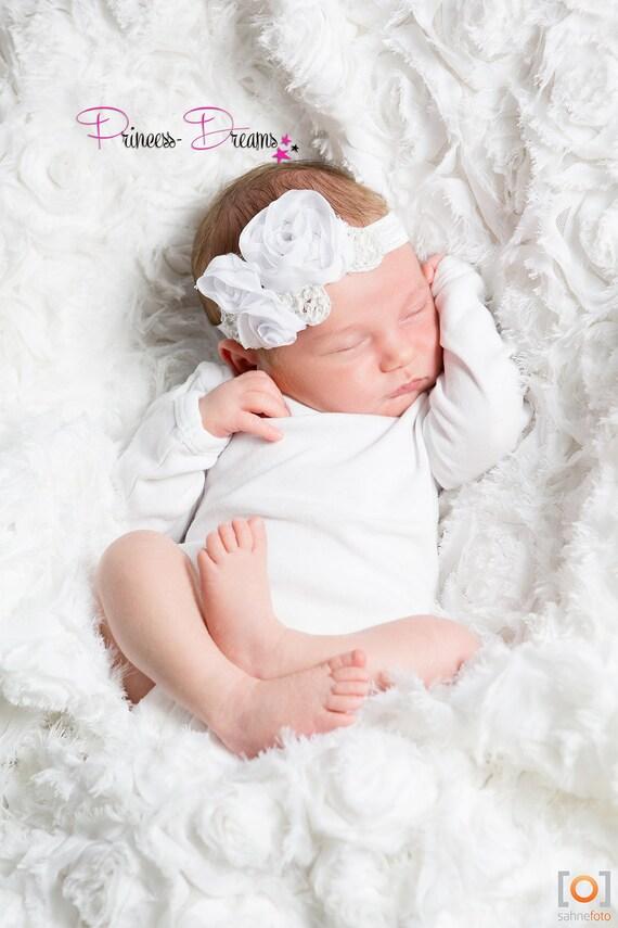 Baby Girl Hairband Baptism Baby Baby Photography Shooting Props Headband Headband Flower Newborn Hairband Accessories Photo Baptism Hairband