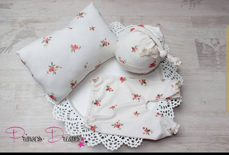 Newborn girl outfit baby photoshoot outfit Newborn photoshoot outfit cream flowers baby girl Newborn Prop baby girl photography