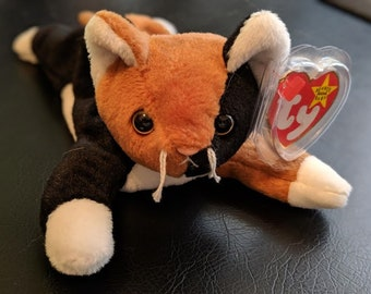 2bd92661977 Ty 1996 Chip The Cat Beanie Baby With Tush Tag Error. RARE! PLUS TEENIE Chip