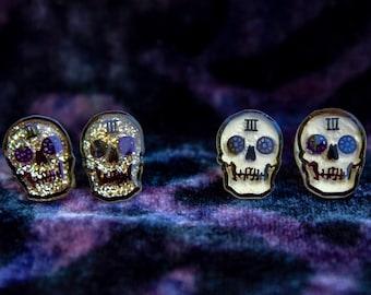 Third House Inspired Sparkly Skull Stud Earrings