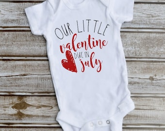 Valentines Day Pregnancy Announcement Etsy