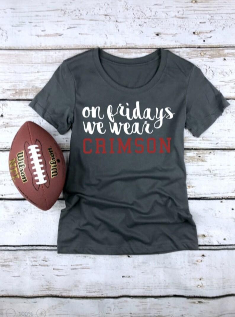 Customizable High School Football Shirt Football Mom Shirt High School Football Fan Game Day Shirt