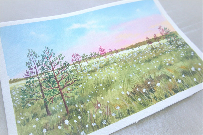 Landscape Watercolor Painting Fine Art Print