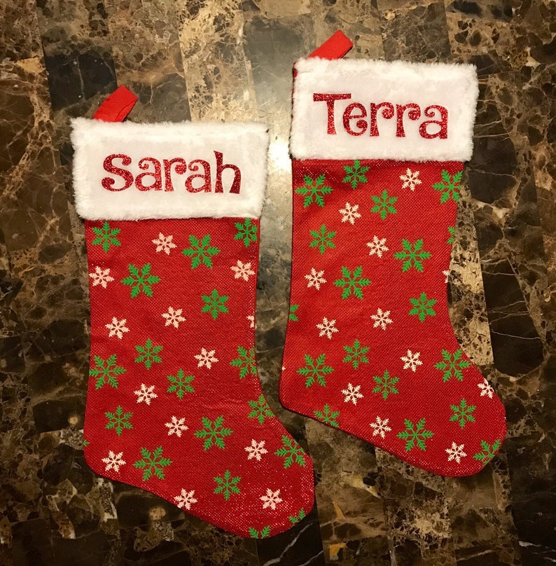 Personalized Glitzy Christmas Stocking