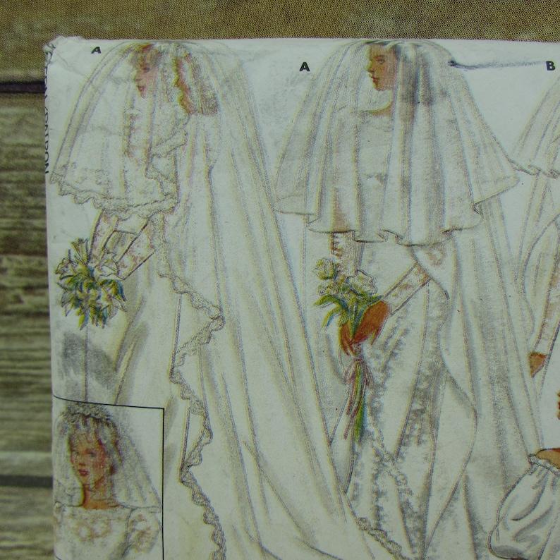 Wedding Bridal Veil Blusher Circular Wreath Bow Butterick 4649 Uncut Sewing Pattern