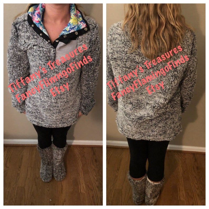 776b02ed666 Lilly Pulitzer inspired Sherpa pullover