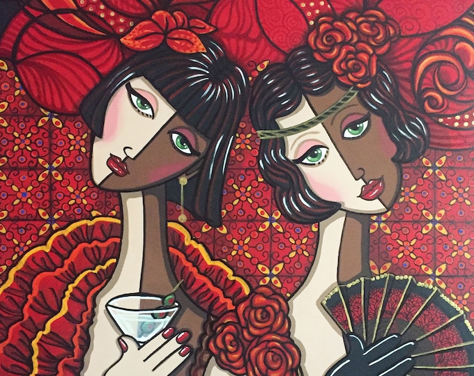 Featured listing image: Flamenco Flappers (prints)