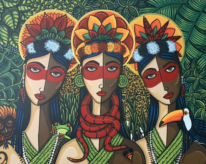 Featured listing image: Waoranis: Keepers of The Amazon (prints)