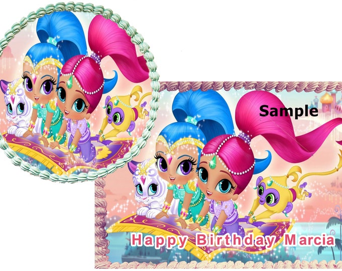 Shimmer & shine  cake - Custom Edible Images -Celebration Cake  - Birthday Cake Topper -Cake Decorating -Customize Cakes -Cupcake Topper
