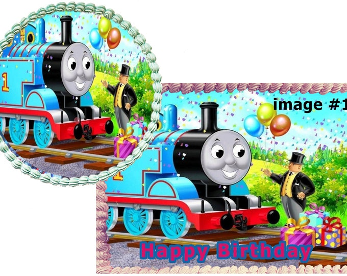 Thomas and Friends  cake - Custom Edible Images -Celebration Cake Topper - Birthday Cake Topper -Cake Decorating -Customize  -Cupcake Topper