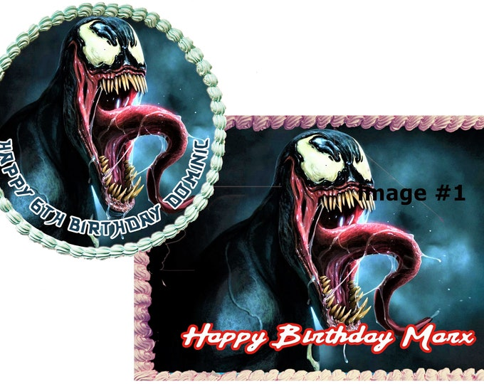 Venom - Venom Decoration - Cupcake Topper - Cake Decorating - Customize Cakes - Cupcake or Cookie Toppers - Custom Edible Images