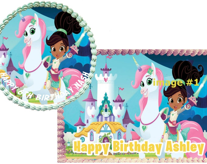 Nella The Princess knight Custom Edible Images Celebration Cake Topper  Birthday Cake Topper Cake Decorating Customize Cakes Cupcake Topper